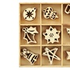 Kaiser Craft Christmas Flourishes Die Cut Wood Pieces Pack