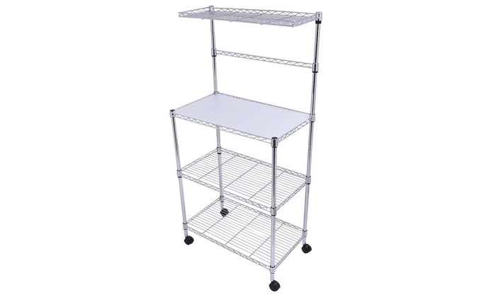 Costway 3 Tier Kitchen Bakeru0027s Rack Microwave Oven Stand Storage ...