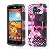 Insten Hot Chevron+black Hybrid Hard Slim Phone Case For Lg Volt Ls740