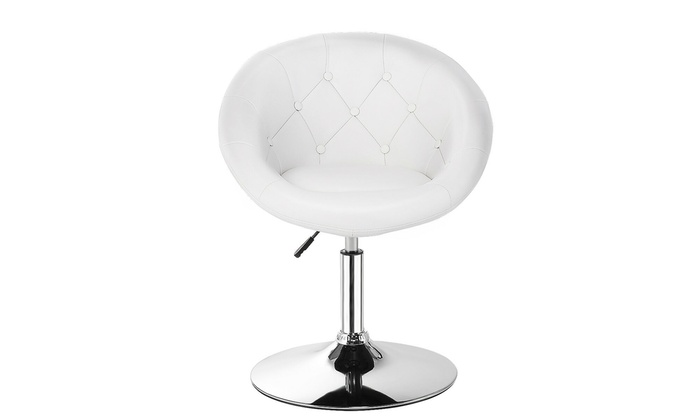 Astounding 1Pc Adjustable Modern Swivel Round Tufted Back Accent Chair Cjindustries Chair Design For Home Cjindustriesco