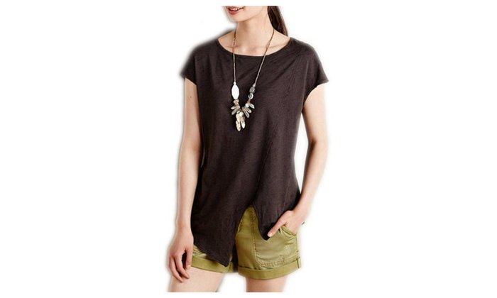 Women's Simple Fashion Pullover Slim Fit Casual Tee Shirt