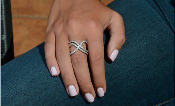 Double X Ring Made with Swarovski Crystals by Elements of Love