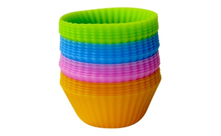 Evelots Set Of 24 Reusable Silicone Cupcake & Muffin Baking Cups 967fe1a6-c5e5-4d46-887d-ad924cb4ea11