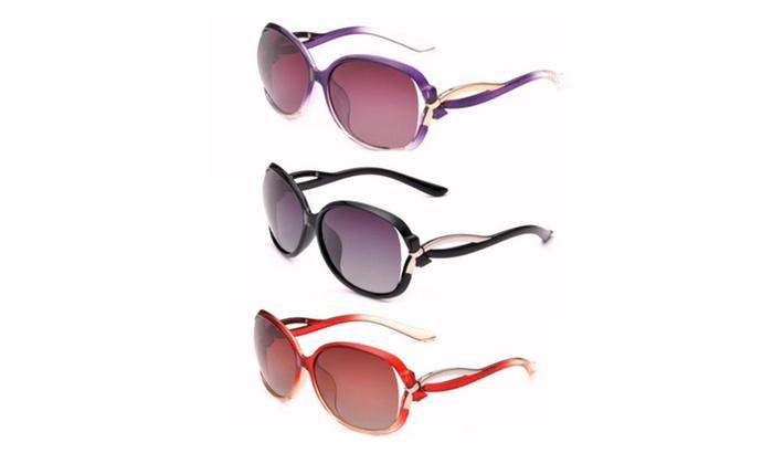 Women's Oversized Polarized Full Frame Sunglasses
