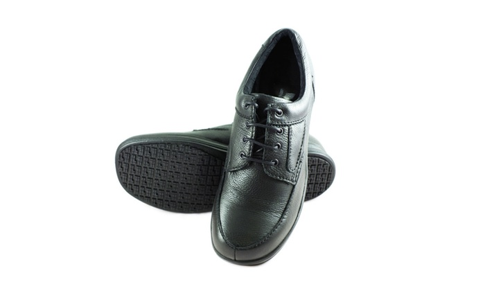 Men's Slip and Oil Resistant Lace Up Leather Shoes for Work