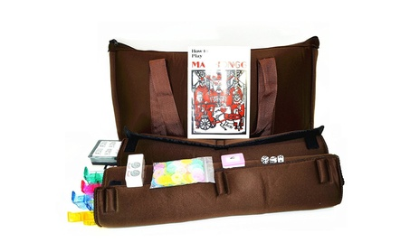 American Mahjong Set Coffee Color Soft Bag 4 Color Combo Rack 554a278a-3f4d-4699-8325-1506f36c8e0f