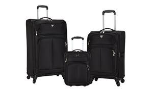 Travelers Club Expandable Luggage Set (3-Piece)