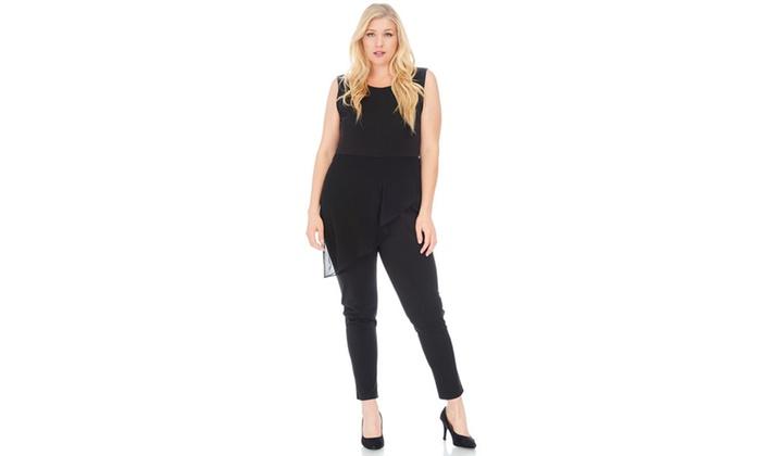 Groupon Goods: Xehar Women's Plus Size Sexy Sleeveless Chiffon Jumpsuit Playsuit Romper