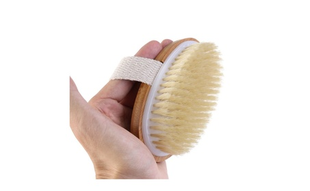 Natural Durable Bristle Wooden Body Bath Shower Back Dry Skin Brush 01b2465f-b2ea-4bd3-8077-fe6417c66f41