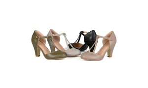 Journee Collection Womens Round Toe Mary Jane Pumps
