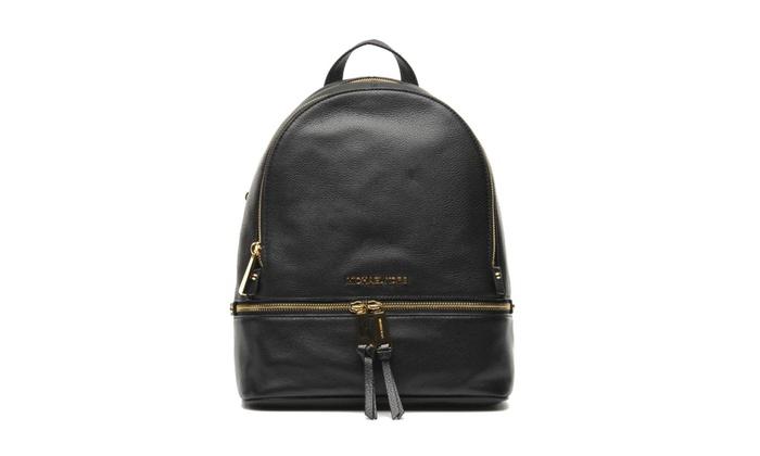 5c84cea6084e Michael Kors Rhea Medium Leather Backpack - Black - 30S5SEZB1L-001 ...