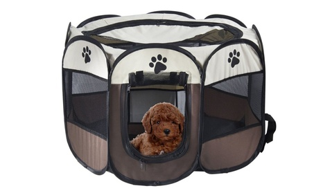 New Pet Portable Foldable Playpen Exercise Organzier 8-Panel 38ebc0f1-8b03-4ad4-b961-700a66112159