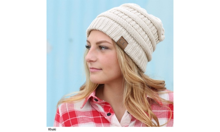 Up To 5% Off on C.C. Women s Knit Beanie Hat  7e2a94b1dd8