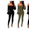 Women's Off Shoulder Long Sleeve Speaker sleeves Jumpsuits Rompers