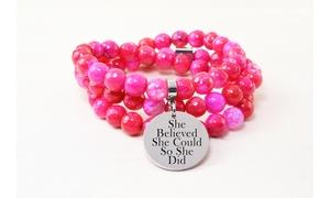 Genuine Inspirational Hybrid Faceted Bracelet/Necklace