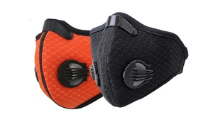 Outdoor Bicycle Anti-dust Half Face Mask Purifying Face Mask Filter
