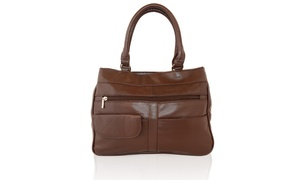 AFONiE Genuine Big bag Luxurious Fashion Soft Leather Shoulder handbag