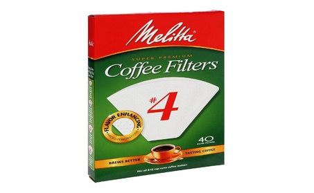 Melitta 624404 40 Count No. 4 White Cone Coffee Filters 2f4a124e-57e7-47e9-b053-35b88088d450