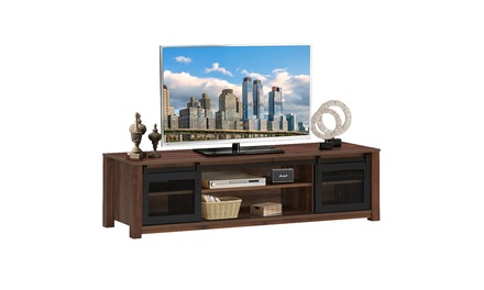 Costway TV Stand Entertainment Center for TV's up to 65'' with Sliding Doors