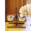Adjustable Stainless Steel Double Diner for Dogs