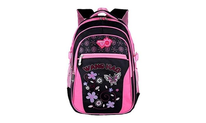 Kegoo Girls Colorful Butterfly Cute Book Bags School Backpacks | Groupon