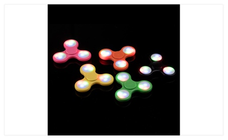 LED Light Fidget Spinner Tri-Spinner Focus Toys ABS Finger Ball Kids 209ffe62-55b1-422c-a759-aea3477c326c