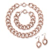 Necklace, Bracelet and Earrings Rose Gold-Plated