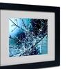 Beata Czyzowska Young 'Blue Rhapsody' Matted Black Framed Art