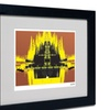 Miguel Paredes 'Yellow Trees' Matted Black Framed Art