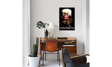 Contratto Champagne Wine Vintage Ad Poster by Leonetto Cappiello