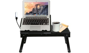 iMounTEK Laptop Table Stand with Built-In Cooling Fan and LED