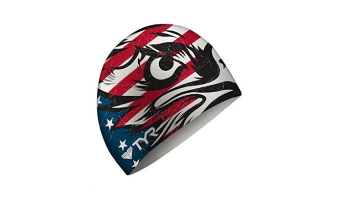 New Tyr Sport Patriot Swim Cap Free Highest Quality Durable