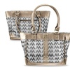 Zodaca Jacquard Fabric Shoulder Bag Pewter