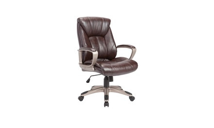 Adjustable Swivel Office Chair, Brown