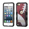 Insten Tuff Football Coated Case Stand For Ipod Touch 5 6 Brown White