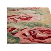 Floral & Leaves Pattern Polyester Corsage Area Rug