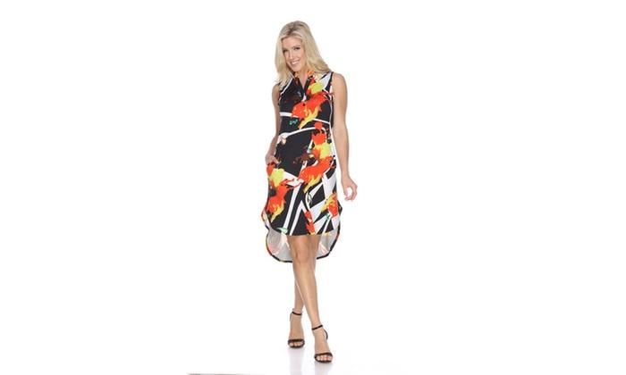 Black/Orange Zuri' Tunic Dress