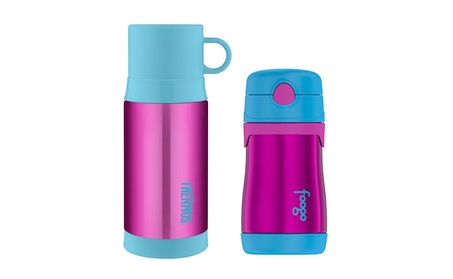 Thermos Insulated 12 oz Drink Bottle and 10 oz Straw Drink Bottle 8d421ebf-b46d-4fc6-a4b0-ee645bd6e332