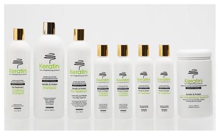Keratin Hair-Straightening Formaldehyde-Free Treatment 8-Piece Set 990df2ad-ca53-48ec-a632-3a477bb06882