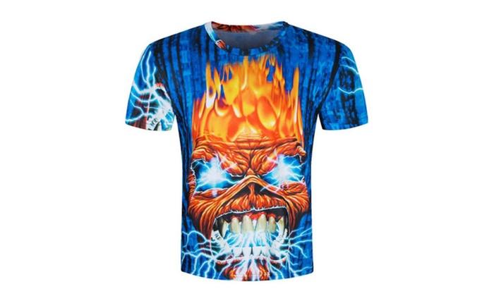 LINNA Unisex Casual 3D Print Short Sleeve T-shirt Tees