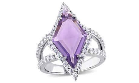 V19.69 Italia Amethyst & White Sapphire Prism Ring in Sterling Silver 6d43c9b5-02f8-44b9-b738-942fa11d36a3