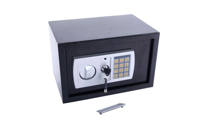 12 5 electronic digital lock keypad safe box cash jewelry gun safe groupon. Black Bedroom Furniture Sets. Home Design Ideas
