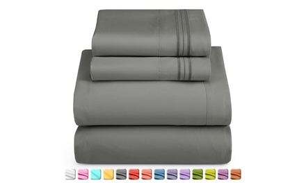 Clara Clark Luxurious Sheet Set - 1800 Deep Pocket Bed Sheets with Fitted Sheet Was: $29.49 Now: $15.99