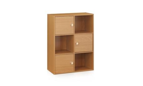 Furinno 11189 Pasir 3-Tier Shelf w/3 Door/Round Handle 3e536281-d903-43fe-ac29-db2c88b2ff1a
