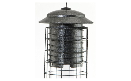 Audubon-woodlink-Dragonfly Squirrel Proof Tube Feeder- Gray 2.5 Pound (Goods Outdoor Décor Bird Feeders & Baths) photo