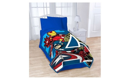 "Marvel the Avengers Blanket Twin / Full 62"" X 90"" Micro Plush 76b1a271-8620-4cac-9916-b1ecc2c1fab8"