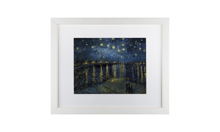 Vincent van Gogh Matted White Framed Canvas Art Prints | Groupon