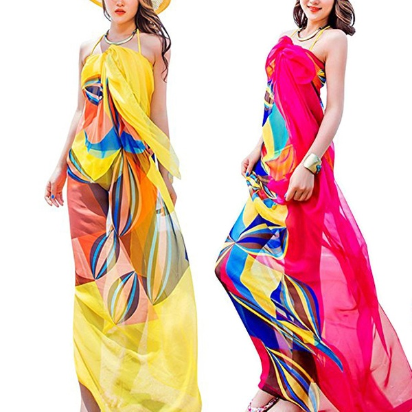 136eb2ccc7 Up To 50% Off on Women's Beach Cover up Chiffo... | Groupon Goods
