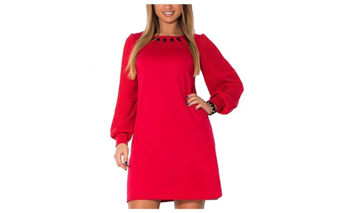 Women's Without Hood Tunic Pullover Solid Outdoor Dress