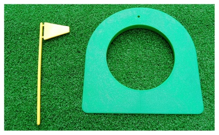 A99 Golf Putting Cup Green with Yellow Flag f5258cf3-3015-4726-9a57-3ec9321355d3